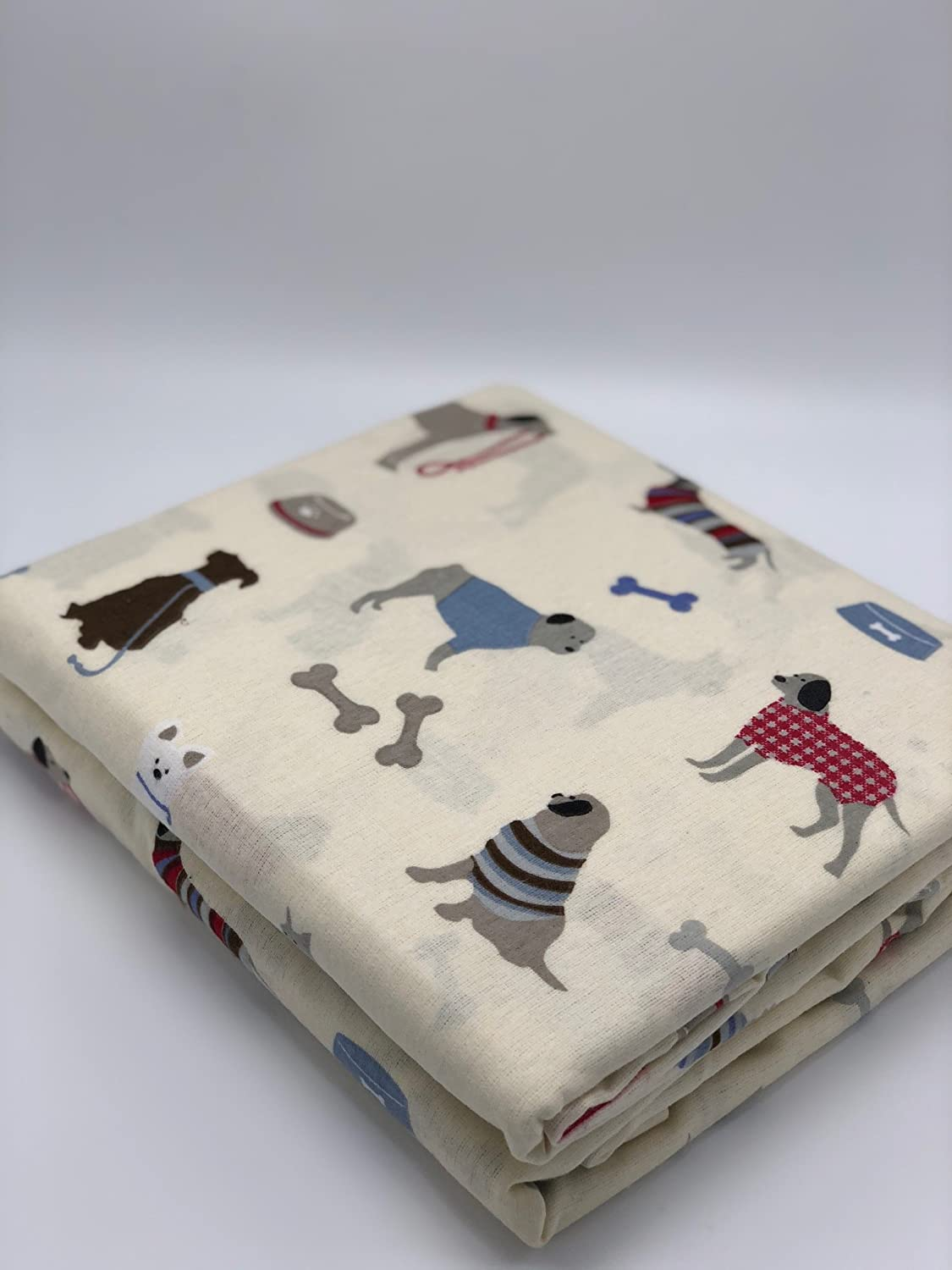GT Heavyweight Flannel Flat Sheet Friendly Puppies Gappa