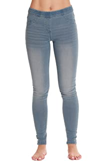 82e7248415dcf Just Love Denim Jeggings for Women with Pockets Comfortable Stretch Jeans  Leggings