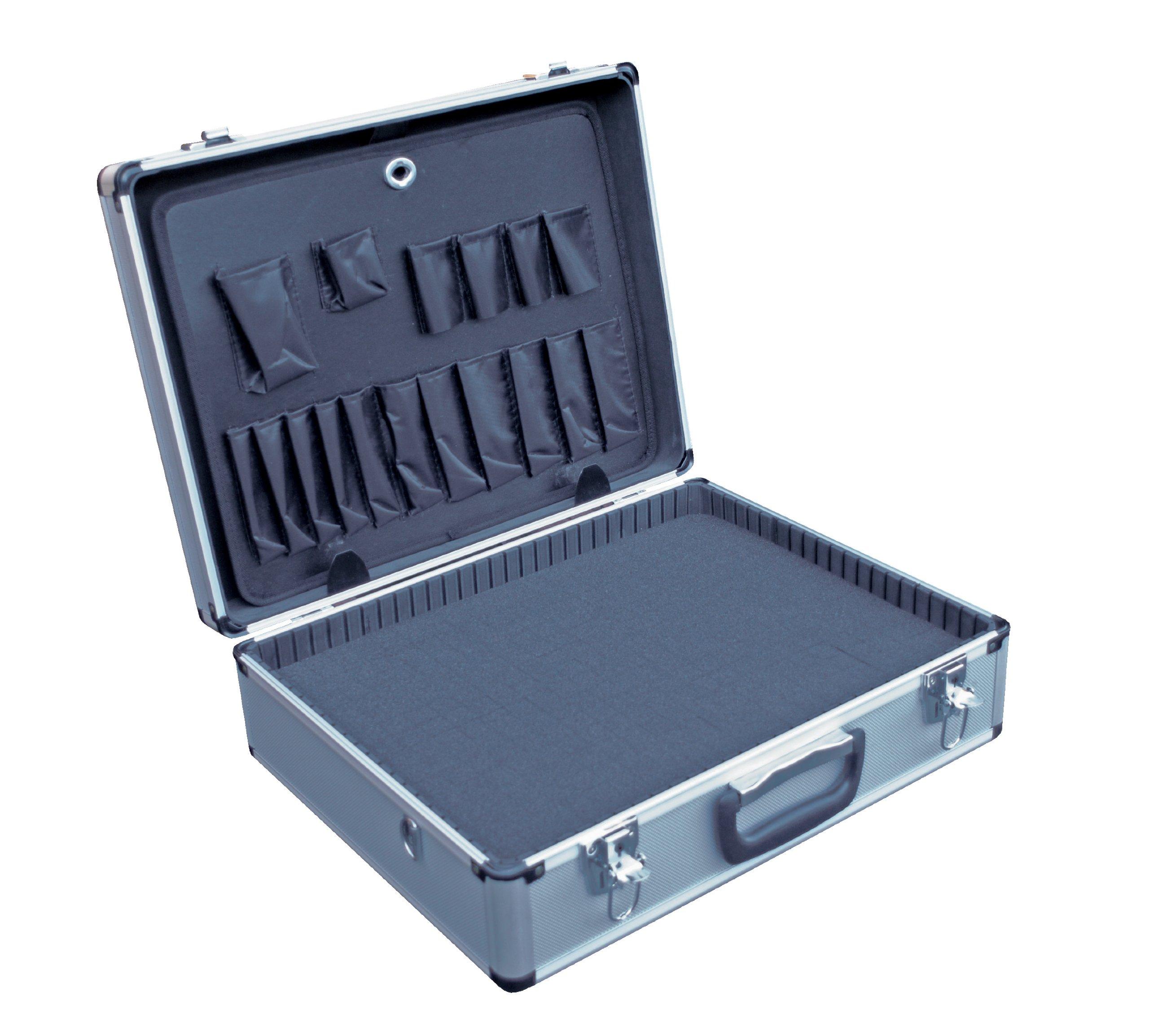 Vestil CASE-1814-FM Aluminum Tool Case - Foam Insert, 14'' Length X 18'' Width X 6'' Height, 6 lbs. by Vestil (Image #1)