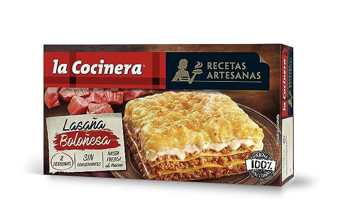 La Cocinera - Lasaña Boloñesa Congelada, 530 g: Amazon.es ...