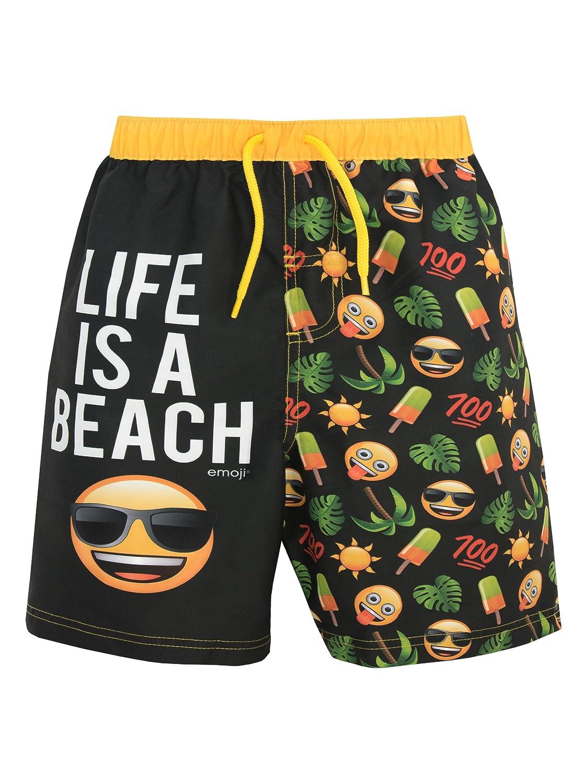 Emoji Boys Sun & Palm Trees Swim Shorts