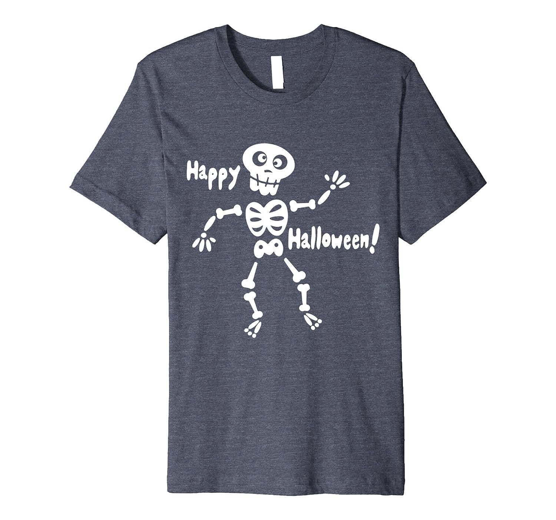 Big Boys Girls Glow In The Dark Skeleton Pre C1 T-shirt-FL