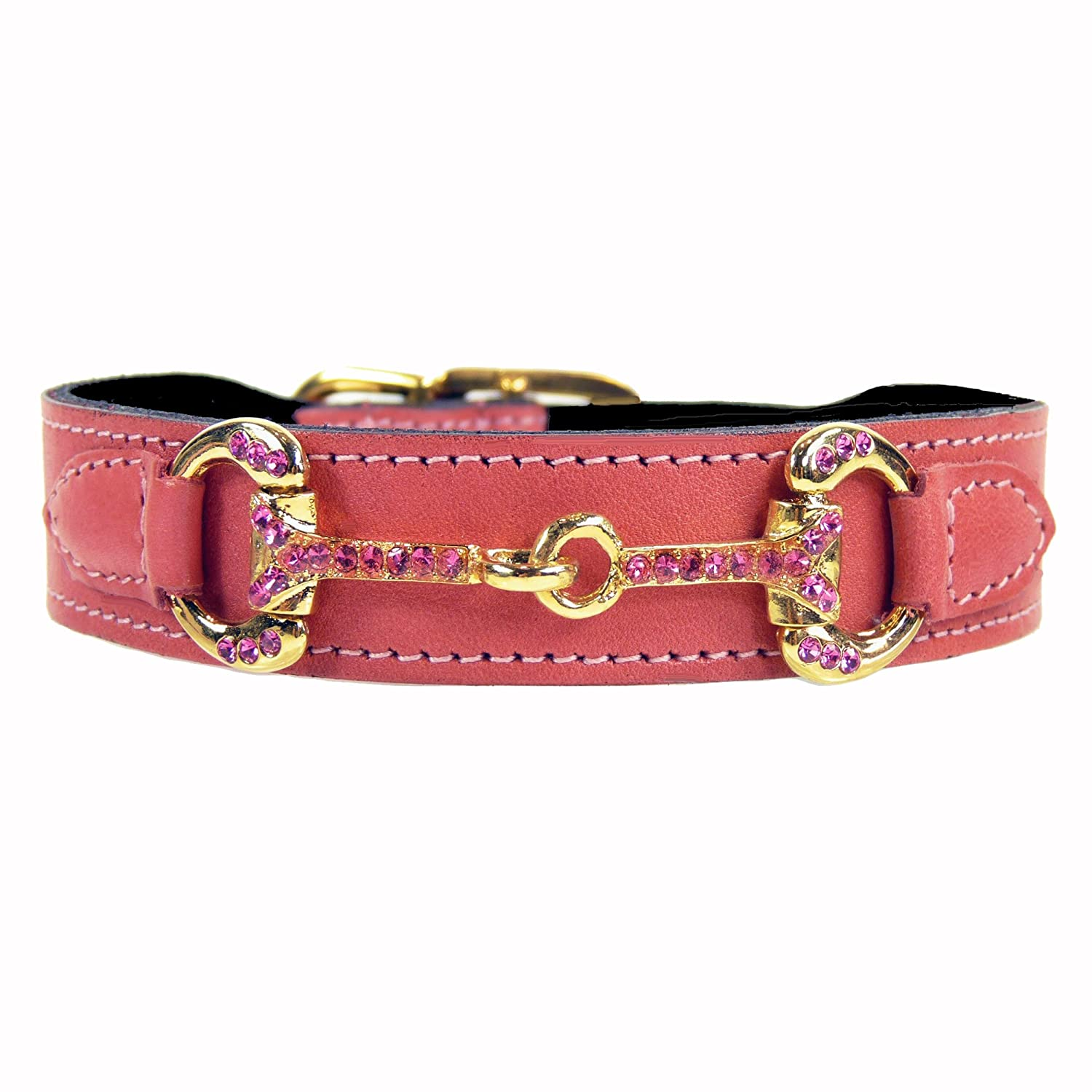 Hartman & pink Horse and Hound Dog Collar, 18 to 20-Inch, Petal Pink