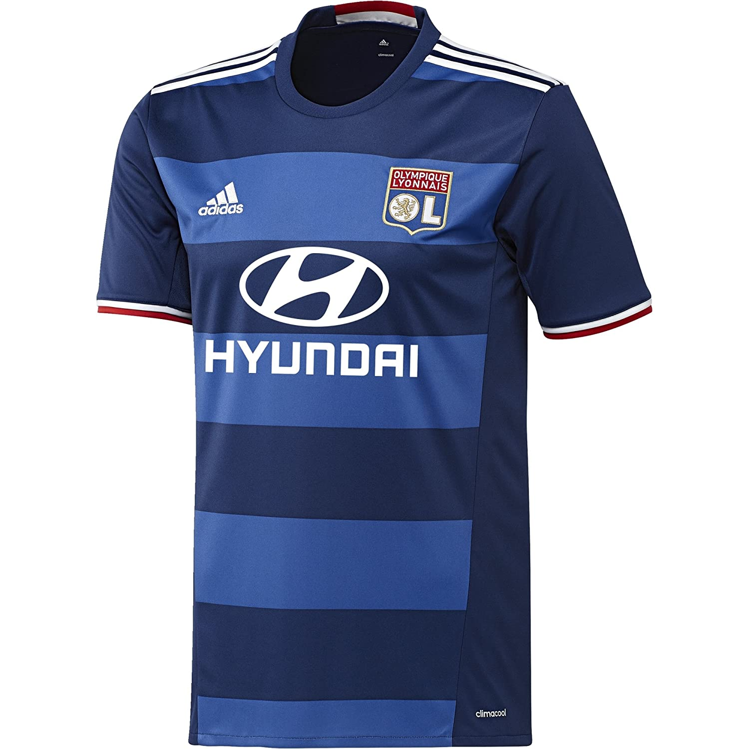 2016-2017 Olympique Lyon Adidas Away Football Shirt B01FVSXETYNavy Small 36-38\