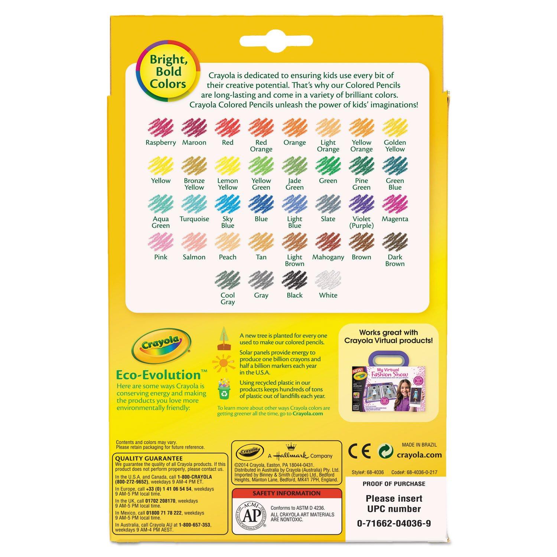 Crayola 684112 Short Barrel Colored Pencils