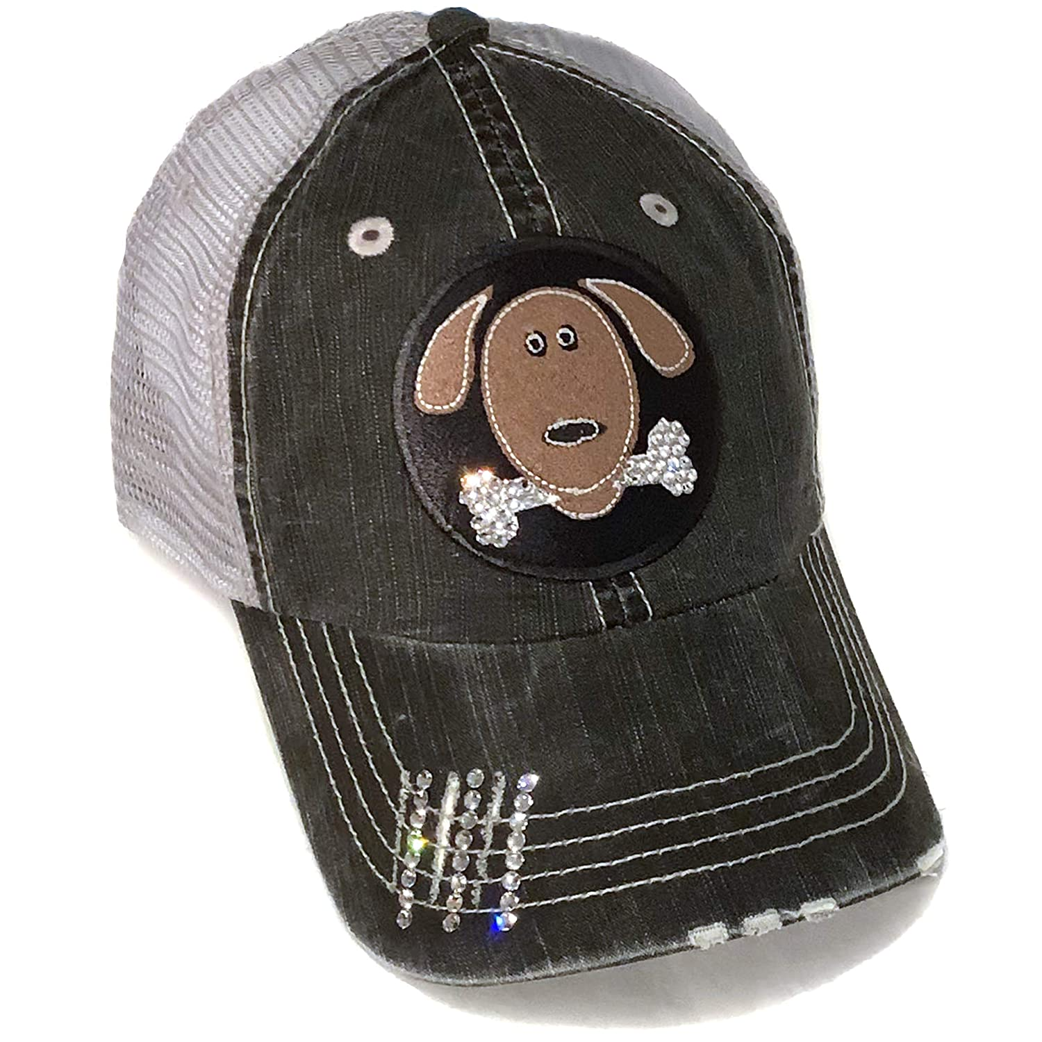Dog Lover Hat for Women Labrador Mom Gift Crystal Rhinestone Bling Trucker  Cap at Amazon Women s Clothing store  427a1a498be