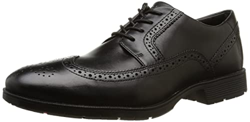 Rockport Men's Total Motion PS Wingtip Shoes - Black (Black), 7 UK (