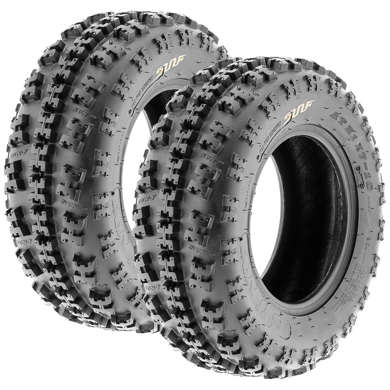 Set of 2 SunF A027 XC ATV UTV Knobby Sport Tires 22x10-10, 6 PR, Tubeless