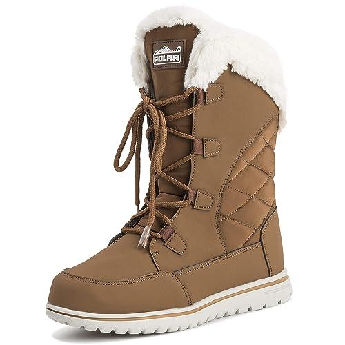 4e3fa8220e087 Mujer Pato Impermeable Lluvia Nieve Invierno Forro Polar Forrado Calentar  Botas A Media Pierna  Amazon.es  Zapatos y complementos
