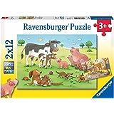 Ravensburger 75904 Animal's Children 2x12pc Puzzle,Children's Puzzles