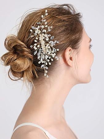 Amazon Com Fxmimior Bride Wedding Prom Bohe Baroque Hair Comb