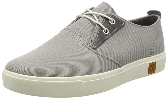 Amherst Ptosteeple, Oxford para Hombre, Gris (Steeple Grey Cotton Canvas), 44 EU Timberland