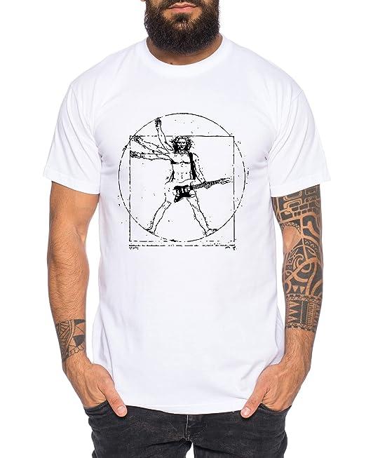 Tee Kiki Vinci Rocks Camiseta de Hombre Cool Fun-Shirt  Amazon.es  Ropa y  accesorios df4c39c9755