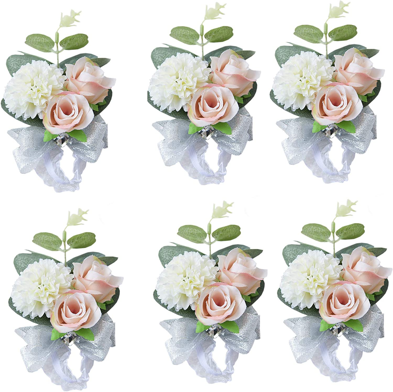 MOJUN Wedding Bridal Bridesmaid Wrist Flower Corsage