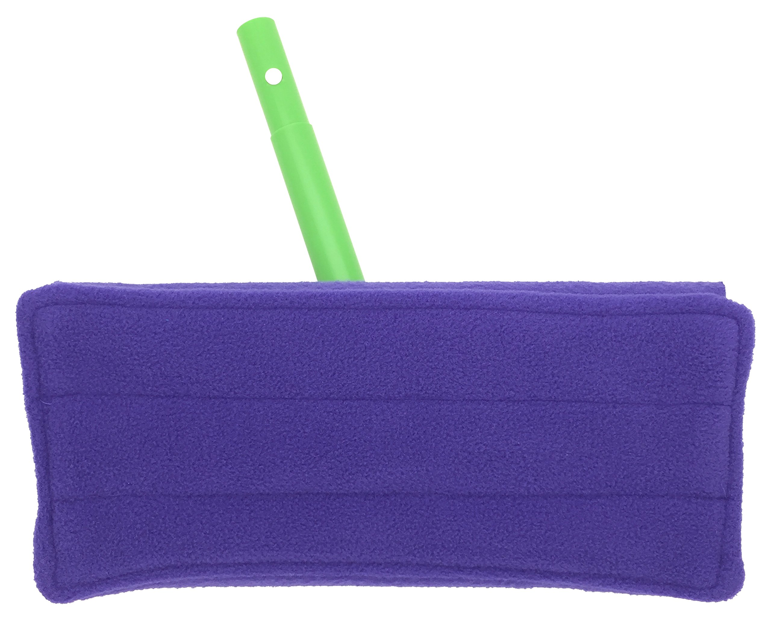 Wet Mop Pads for Sweeper - 2 Sided Fleece & Terry Cloth - Washable Reusable by Xanitize (4-Pack) (Standard, Purple, Blue, Green, Pink) by Xanitize (Image #6)