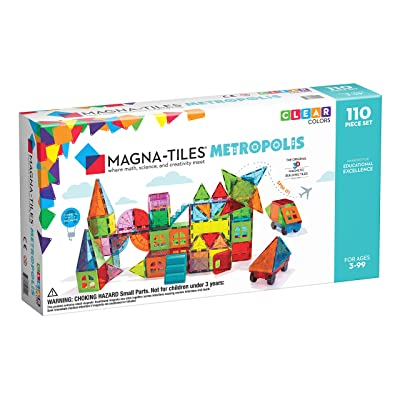 Magna Tiles Metropolis 110Piece Set, The Original, Award-Winning Magnetic Building Tiles for Kids, Creativity & Educational Building Toys for Children, Stem Approved: Toys & Games