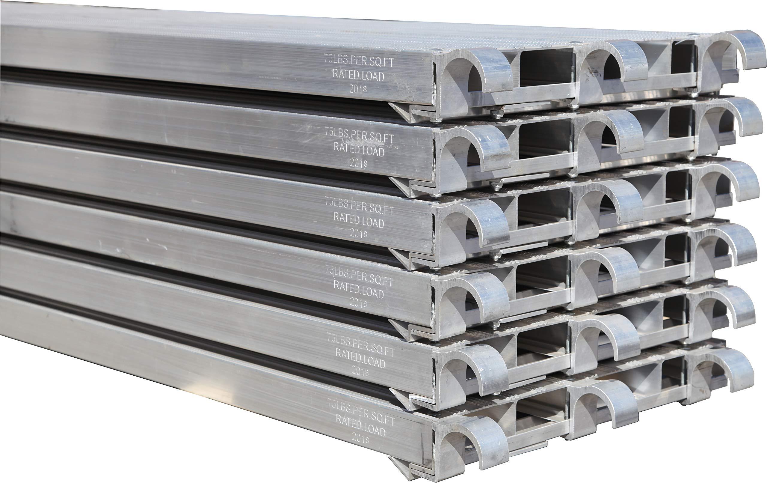CBM Scaffold 6 PC All Aluminum 75-Lbs per Square-Feet Duty Rating Walk Board 19 1/4'' Wide by 7-Feet Long (6)