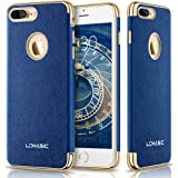 iPhone 7 Plus Case, LOHASIC Premium Leather Slim Fit Protective Cover Luxury Non Slip Soft Grip Hybrid Flexible Bumper Shockproof Cases for Apple iPhone 7 Plus - Ink Blue, 5.5""