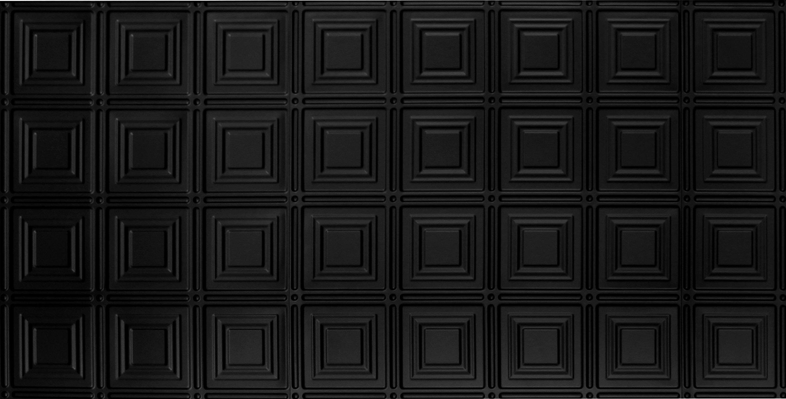 Aa204 Faux Black 24''x48'' Plastic Wall and Ceiling Tile for Home Improvement Pack of 10