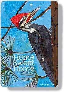 None Brand Woodpecker Metal Sign pileated Woodpecker Home Decor Wall Art Indoor Outdoor Aluminum Woodpecker Art Sign Custom Bird Art Bird Painting