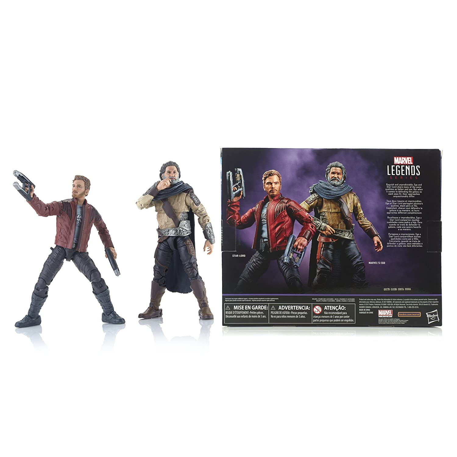 be3714666 Amazon.com  Marvel Legends Guardians of the Galaxy Vol. 2 Marvel s Ego    Star-Lord 2-Pack  Toys   Games