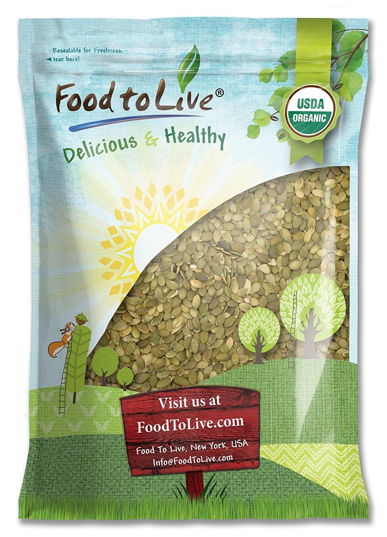 Pepitas/Semillas de calabaza orgánicas de Food to Live (Crudas, sin cascara) (8 Pounds) by Food to Live