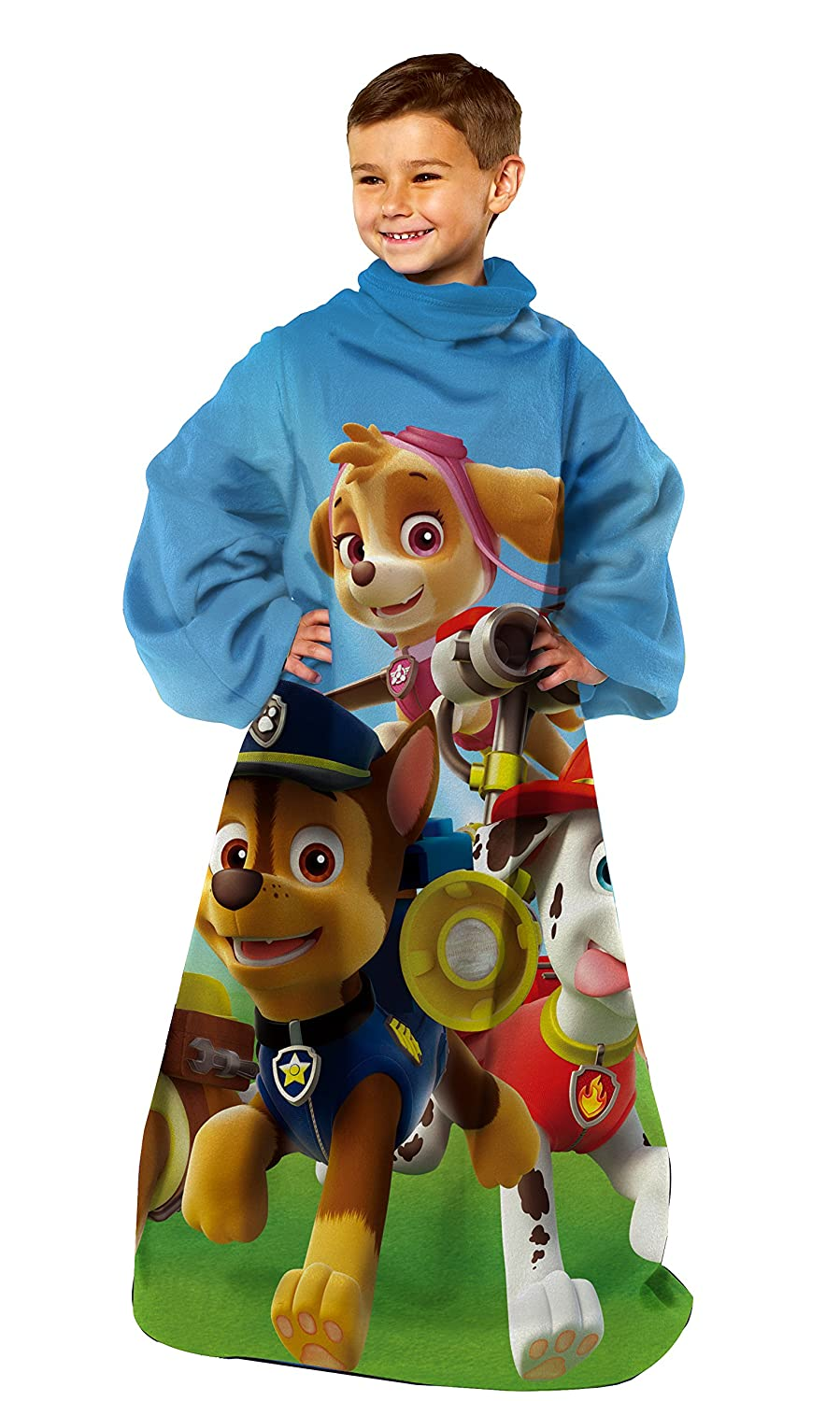 Nickelodeon Paw Patrol, Race to The Rescue Youth Comfy Throw Blanket with Sleeves, 48