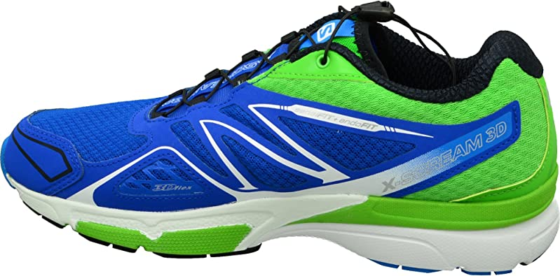 Salomon L39027600, Zapatillas de Trail Running para Hombre, Azul (Blue Yonder/Tonic Green/White), 41 1/3 EU: Amazon.es: Zapatos y complementos