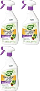 Garden Safe 80422 Houseplant and Garden Insect Killer 24-Ounce Spray, 3 Pack