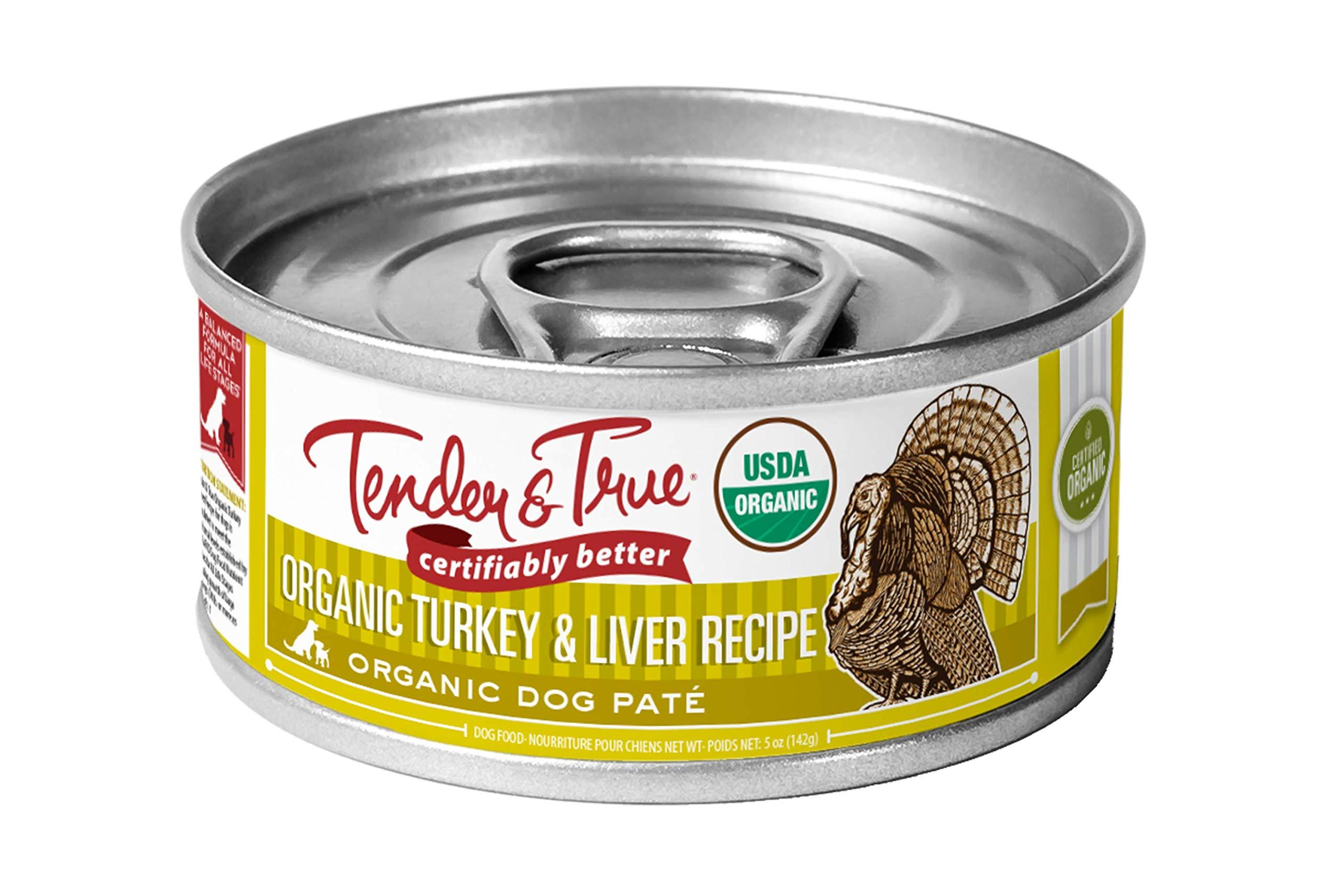 Tender & True Organic Turkey & Liver Recipe Canned Dog Food, 5.5 oz, Case of 24 by Tender & True Pet Nutrition