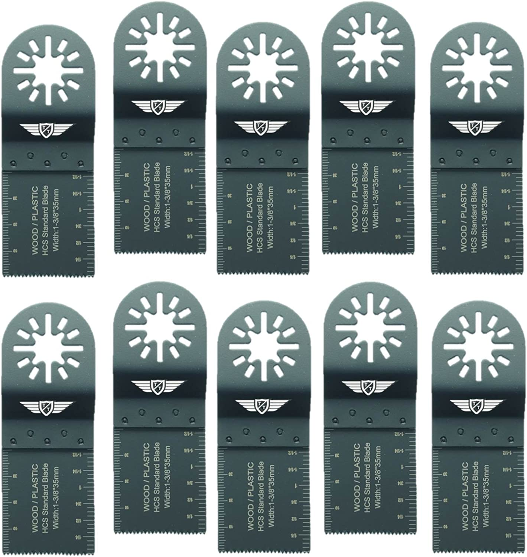 Tops Tools - Hojas de sierra de 35 mm para madera. Compatibles con herramientas multiuso oscilantes Bosch, Fein Multimaster, Multitalent, Makita, Milwaukee, Einhell, Ergotools, Hitachi, Parkside, Ryob