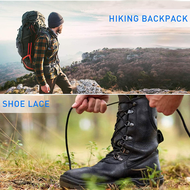 1/4'' Elastic Bungee Shock Cord, 26 Feet Adjustable Black Elastic Tie Down with 12 Bungee Shock Cord Hook and 6 Ball Bungee Cords for Roof Racks, Bikes, Kayaking, Camping (26 Feet) - -