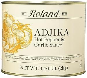 Roland Foods Adjika Hot Pepper & Garlic Sauce, 4.40 Pound