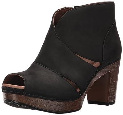 025034e6b90e Dansko Women s Delphina Ankle Bootie Black Milled Nubuck 39 EU 8.5-9 M US