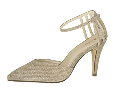 Rainbow Club Brautschuhe Kennedy - Gold Metallic - Pumps Größe 36 EU 3 UK  Damen 10c9a2e903