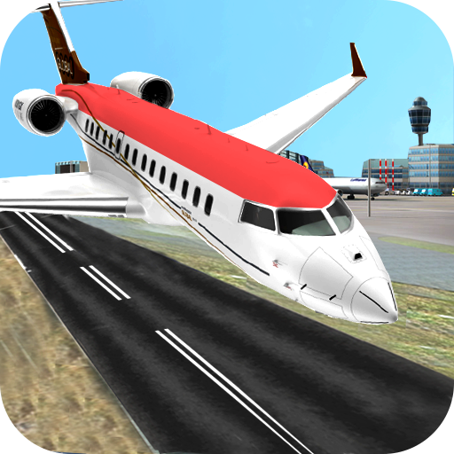 Real City Airplane Flying Pilot 3D Flight Simulator 2018 ()