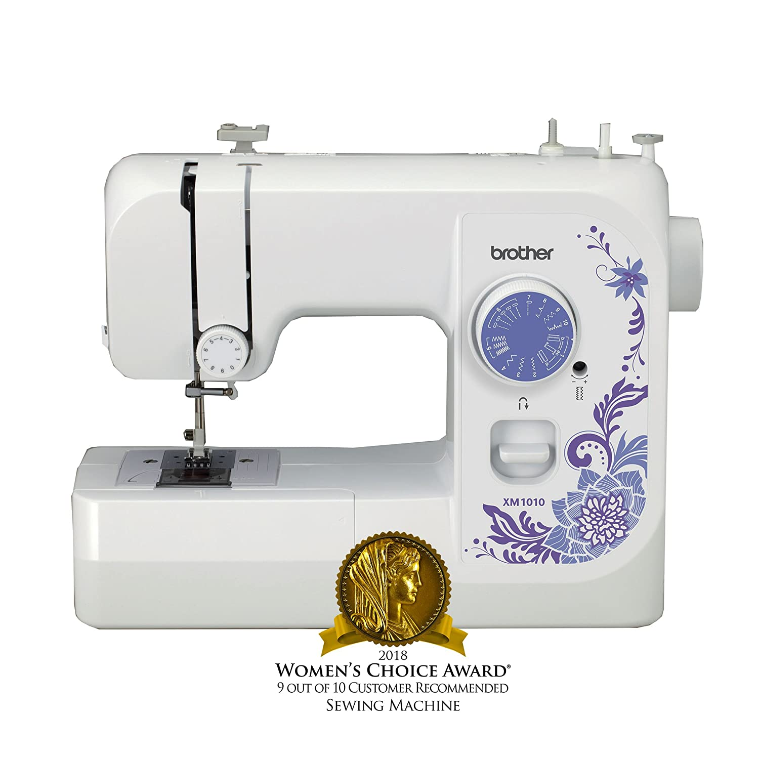 Amazon.com: Brother Sewing Machine, XM1010, 10-Stitch Sewing Machine,  Portable Sewing Machine, 10 Built-in Stitches, 4 Included Sewing Feet,  25-Year Limited ...