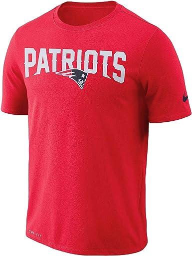 enfermo Empresario administración  Amazon.com: Nike New England Patriots Dri-FIT - Camiseta de manga corta,  algodón, diseño con texto