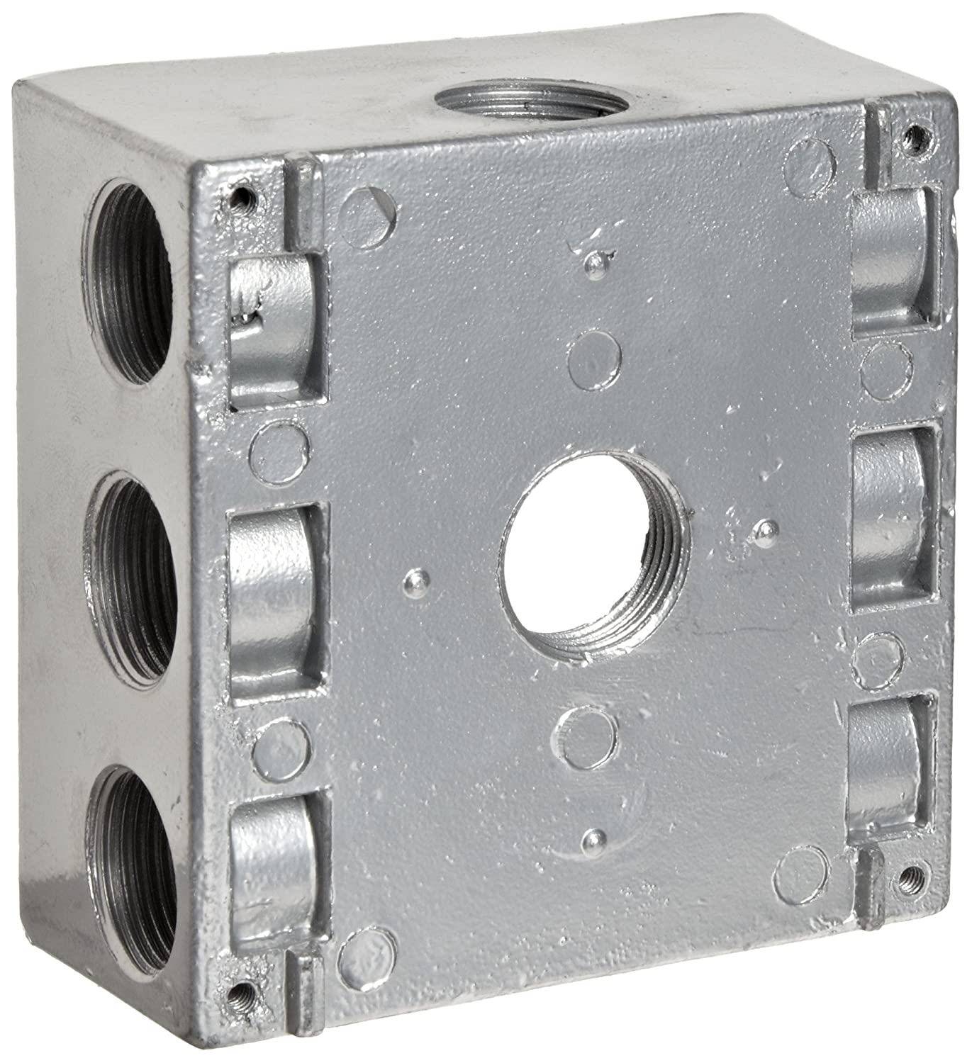 """Weatherproof 1-Gang FLANGED Metal Extension Ring 2 Two 1//2/"""" Holes Outdoor Box"""