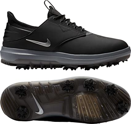 sports shoes 89a6e 7185a Nike Mens Air Zoom Direct Golf Shoes (BlackMTLC Silver, ...