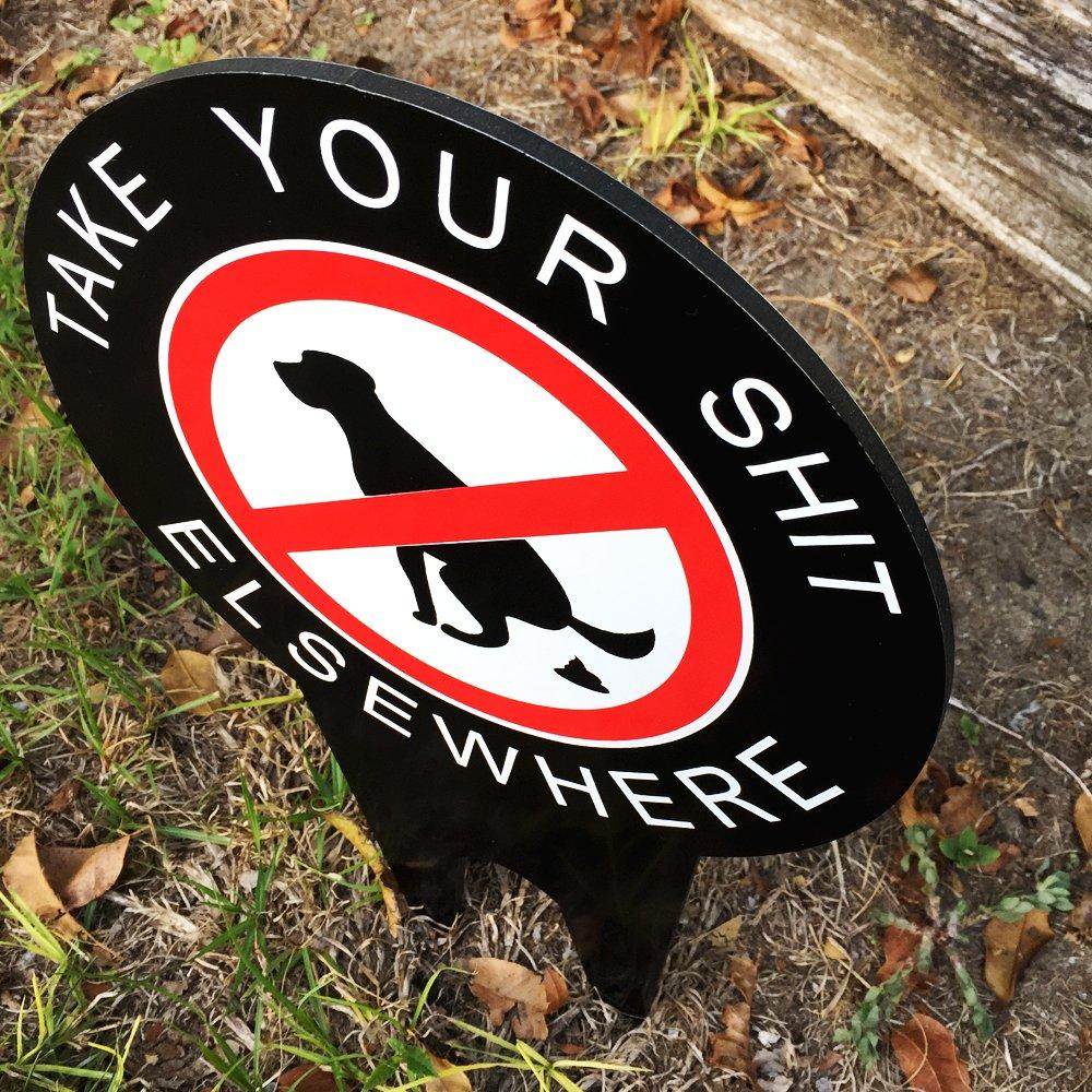 Amazon.com: Ningún Signo perro Pooping Yard mantener su ...