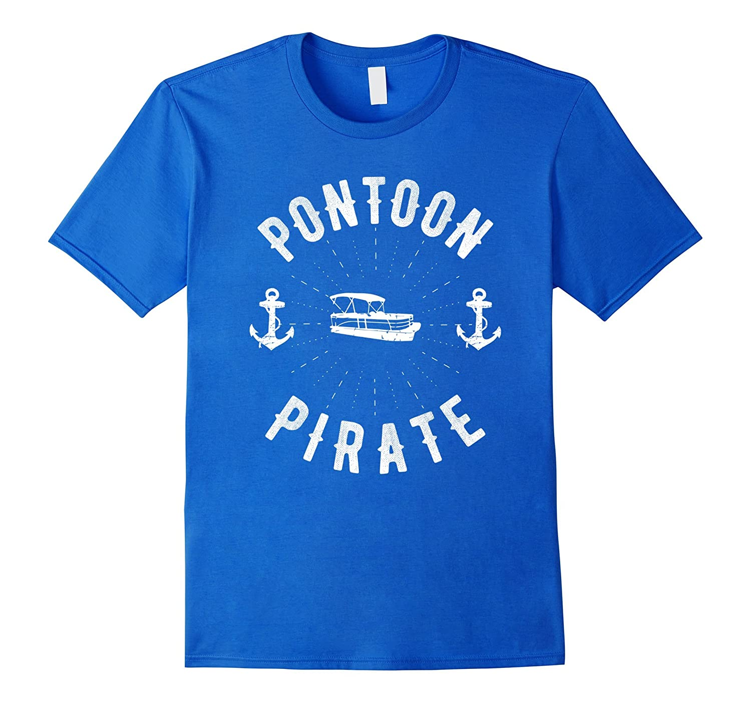 Pontoon Pirate - Funny Pontoon Boating T-Shirt-Art
