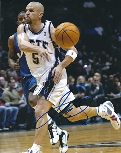 e76f1dbaba0b Image Unavailable. Image not available for. Color  Autographed Jason Kidd  8x10 New Jersey Nets Photo