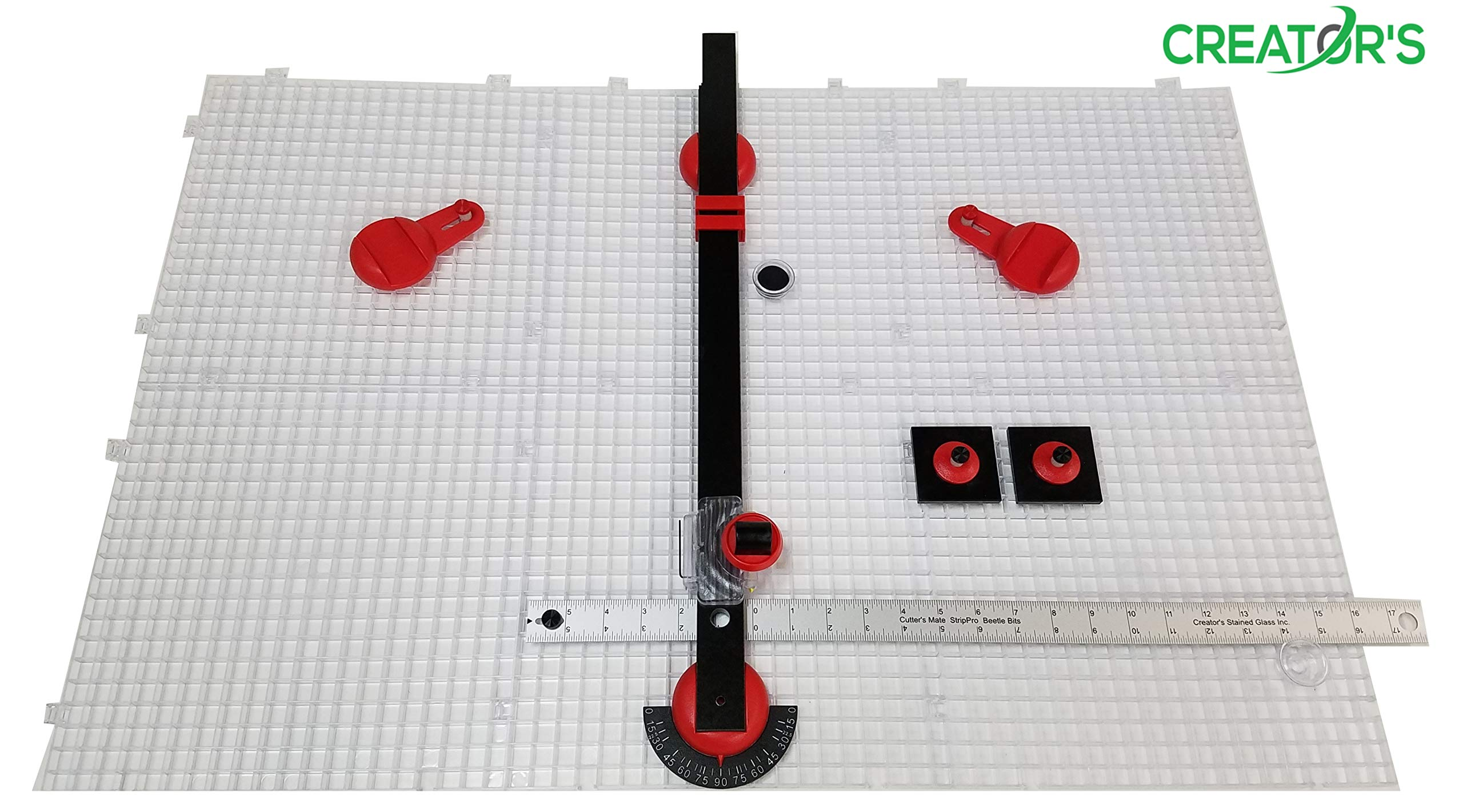 Creator's Ultra Beetle Bits Glass Cutting System - COMPLETE WITH 6-Pack Waffle Grids and Push Button Flying Beetle Glass Cutter INCLUDED - Made In The USA by Creator's