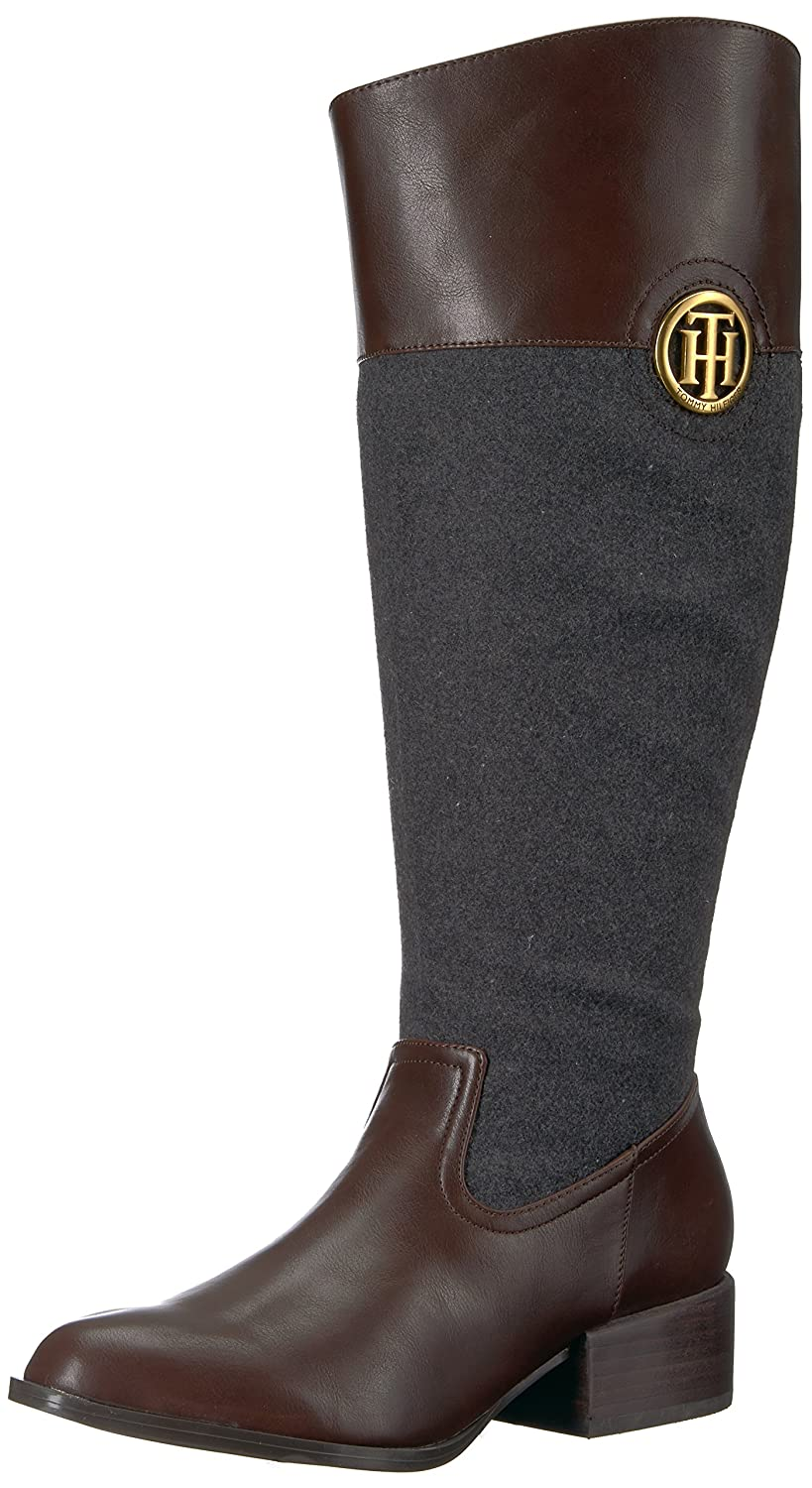 Tommy Hilfiger Women's Madeln-Wc Equestrian Boot B075RM38GQ 5 B(M) US|Brown/Charcoal