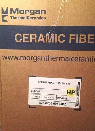 "Morgan térmico cerámica cable de manta aislante rollo 2 ""x 24"" x 12"