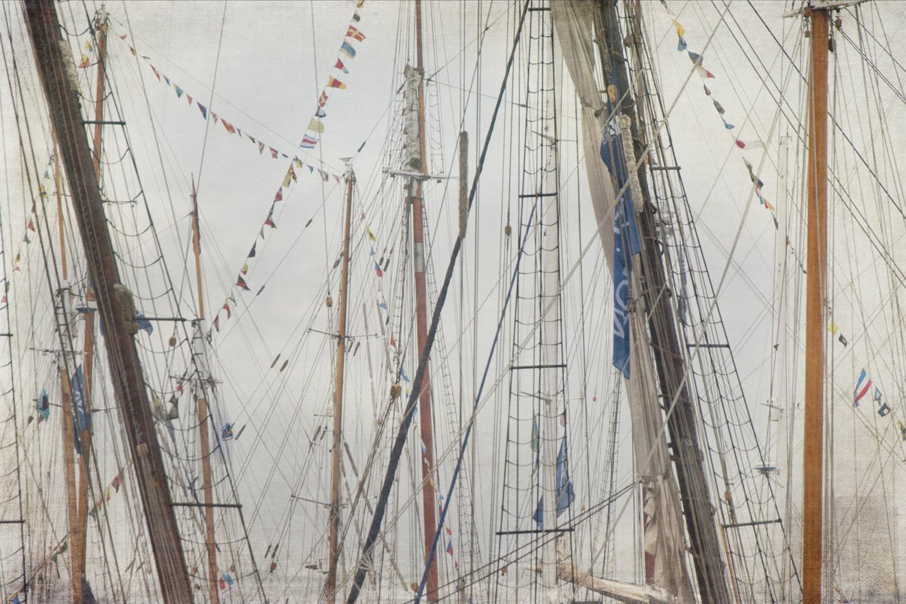 Sailing Masts Rigging Nautical Prints- Tall Ships Large Canvas Art - CHOOSE PRINT OR CANVAS
