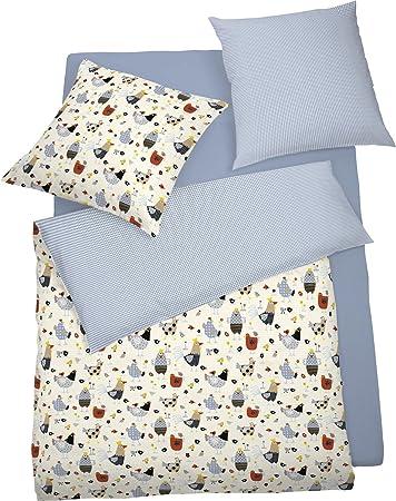 Schlafgut Mako Jersey Bettwäsche Für Kinder 100x135 40x60 In Blau