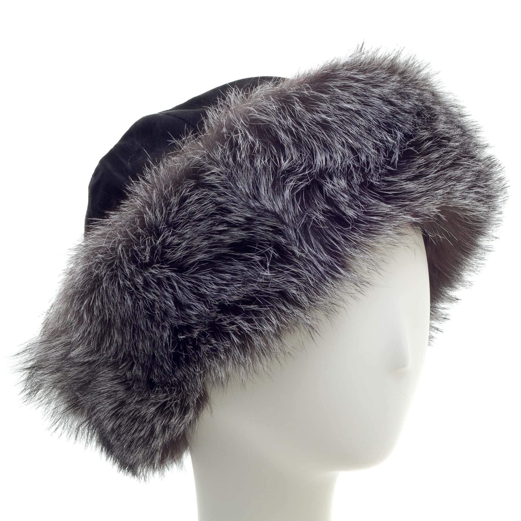 surell Fox Cuff Winter Hat - Warm Winter Fashion - Bridal Wedding Attire Black by surell (Image #1)