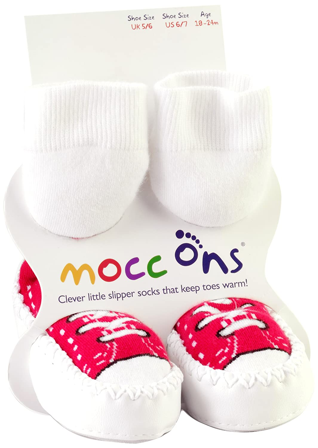 Mocc Ons Toddler and Baby Moccasin Style Slipper Socks Sneakers